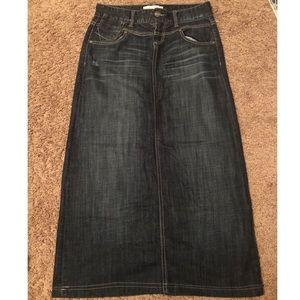 Dark Wash Maurices Skirt